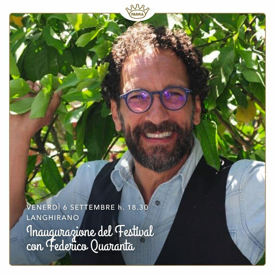 Federico Quaranta vi aspetta il 6/09 all'Inaugurazione del Festival Del Prosciutto Di Parma per celebrare il Re dei Prosciutti.