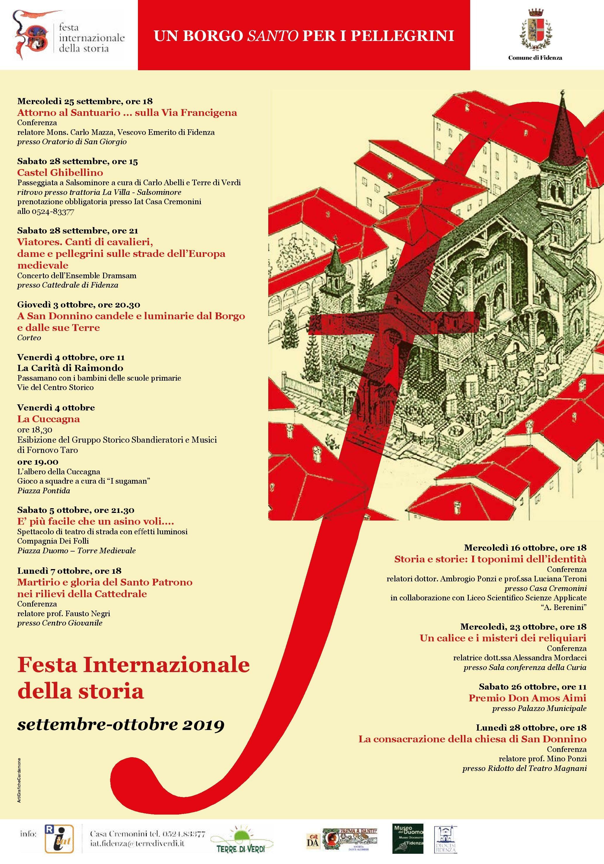 Festa internazionale della storia a Fidenza: un borgo Santo per i pellegrini