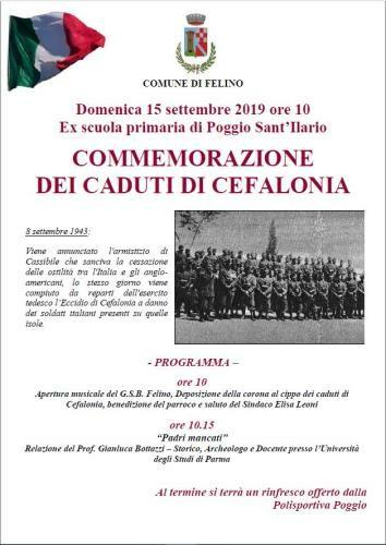Commemorazione dei Martiri di Cefalonia  a Poggio Sant'Ilario Baganza