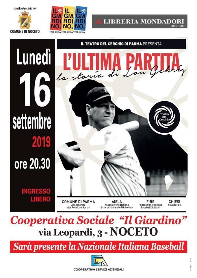 """Il Teatro del Cerchio presenta """"L'ultima partita"""" Sarà presente la nazionale italiana di baseball"""