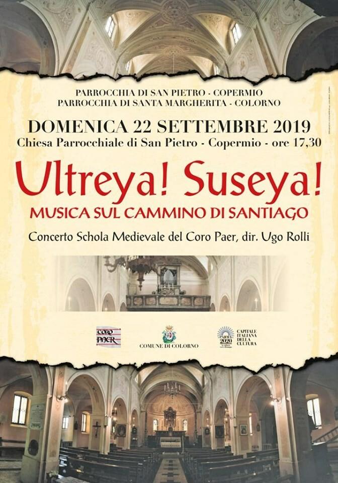 Ultreya! Suseya! Musica sul cammino di Santiago nella Chiesa di Copermio