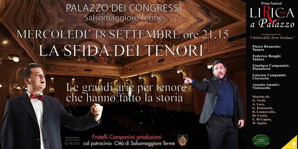 Lirica a Palazzo: la sfida dei tenori