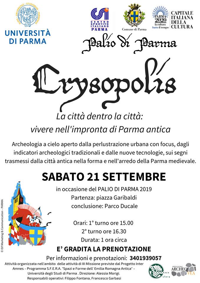 Crysopolis La città dentro la città: vivere nell'impronta di Parma antica