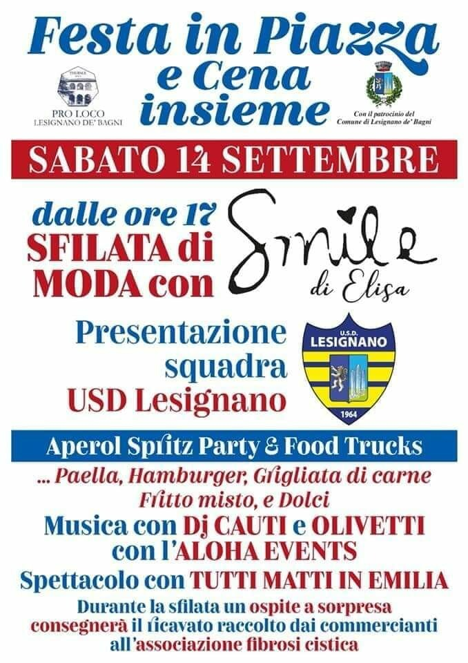Festa in piazza e cena insieme a Lesignano