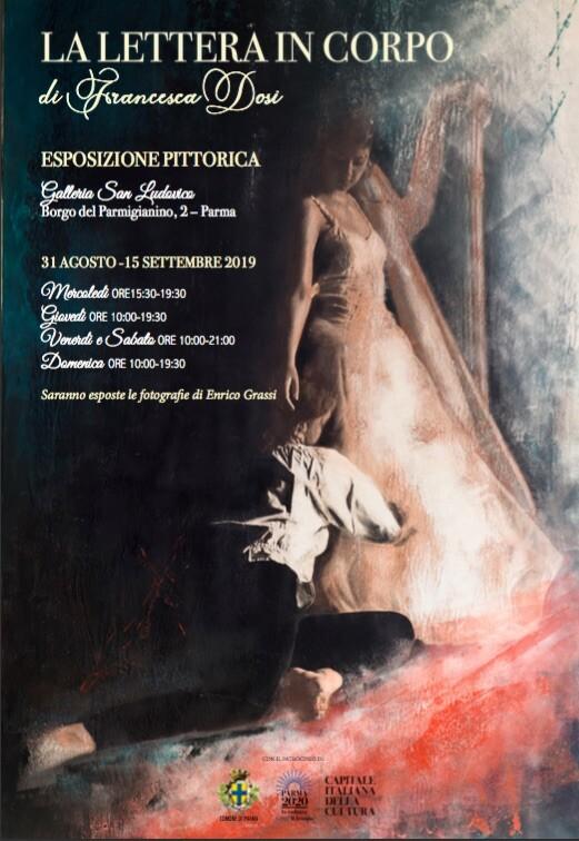 """""""La lettera in corpo"""", evento musicale di chiusura della mostra: concerto per arpa e voce"""
