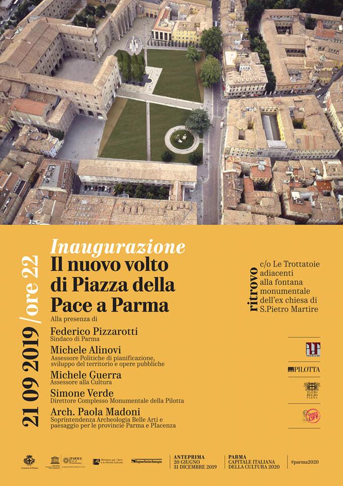 Il nuovo volto di Piazza della Pace a Parma