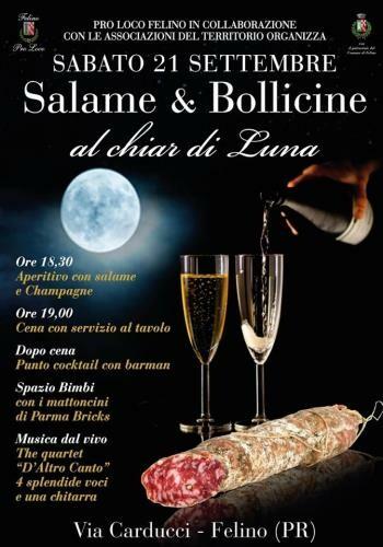 Salame & Bollicine al Chiar di luna a Felino