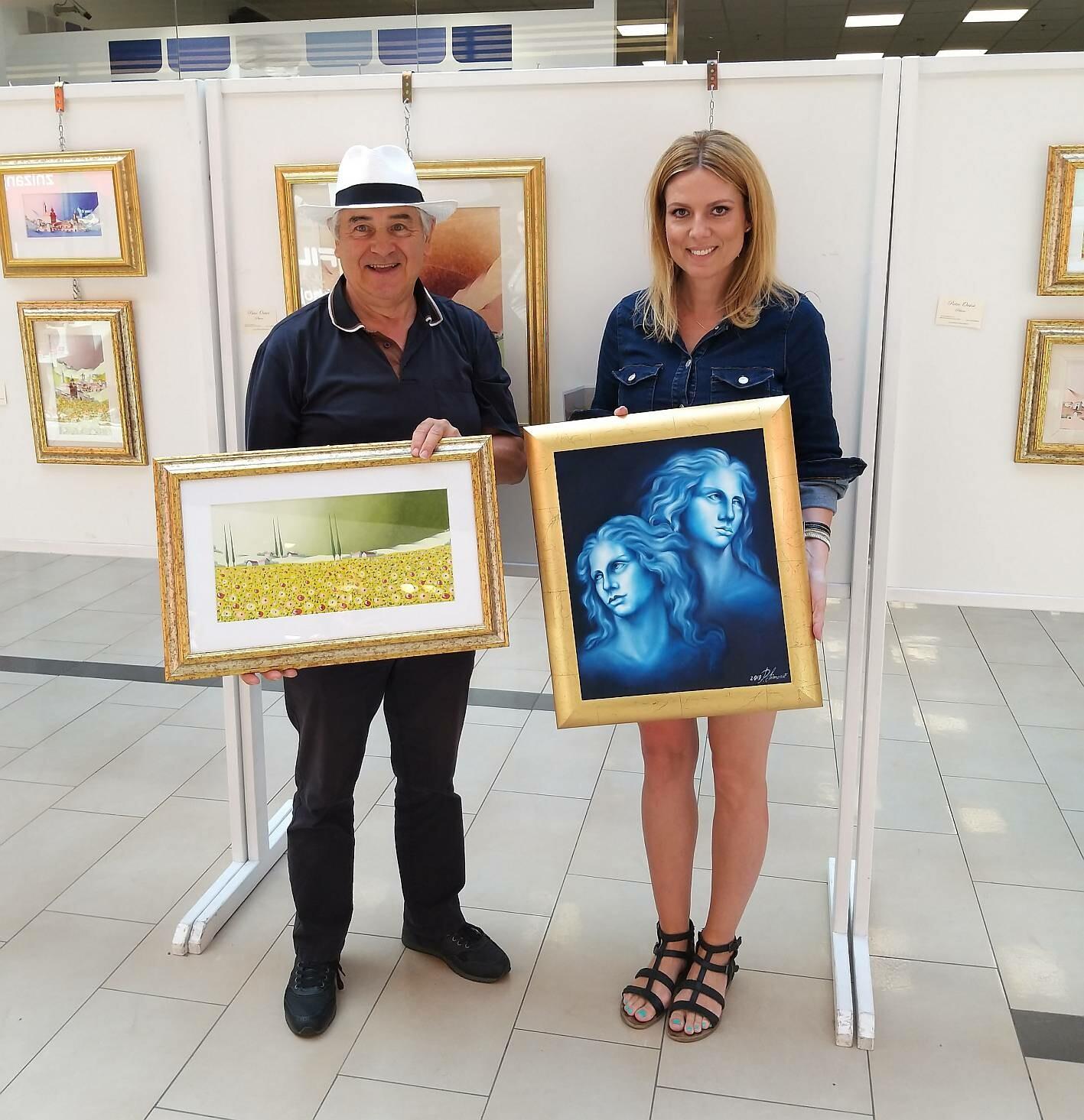 Viaggio artistico Slovenia-Italia, mostra del pittore bagnacavallese Pietro Orsini e della pittrice slovena Patricija Simonic