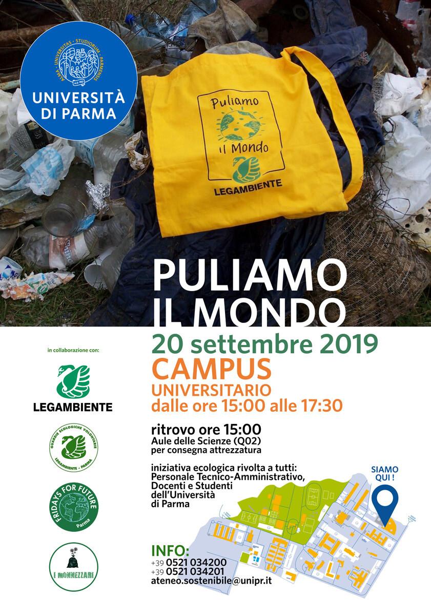 """""""PULIAMO IL MONDO"""" AL CAMPUS DELL'UNIVERSITÀ DI PARMA"""