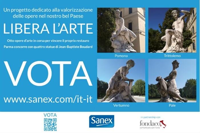 """""""Libera l'arte""""  Parma partecipa al progetto per la valorizzazione del patrimonio storico-artistico con il gruppo scultoreo di Palazzo Ducale."""