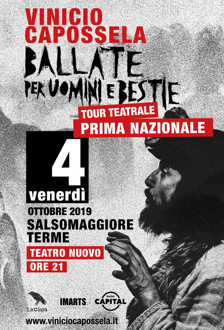 Vinicio Capossela  Ballate per Uomini e Bestie  al Teatro Nuovo di Salsomaggiore
