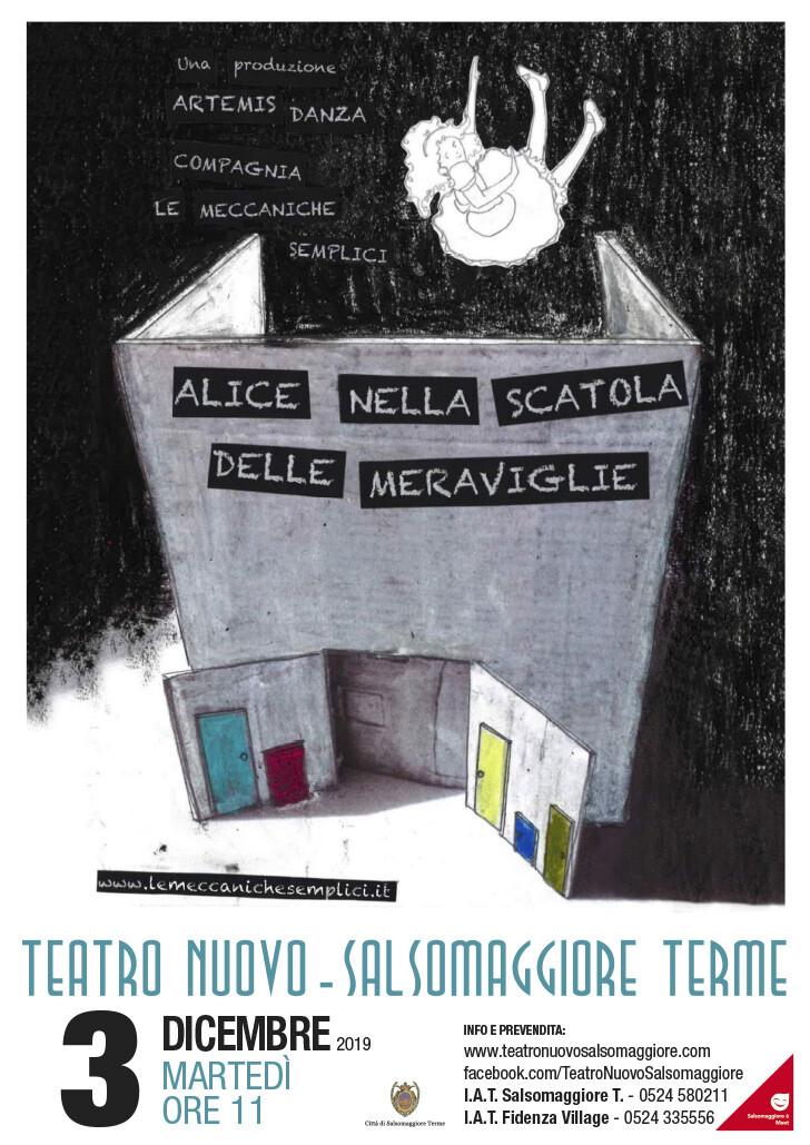"""Compagnia Le Meccaniche Semplici  Alice nella scatola delle meraviglie, rassegna """"Il Piccolo Teatro"""""""