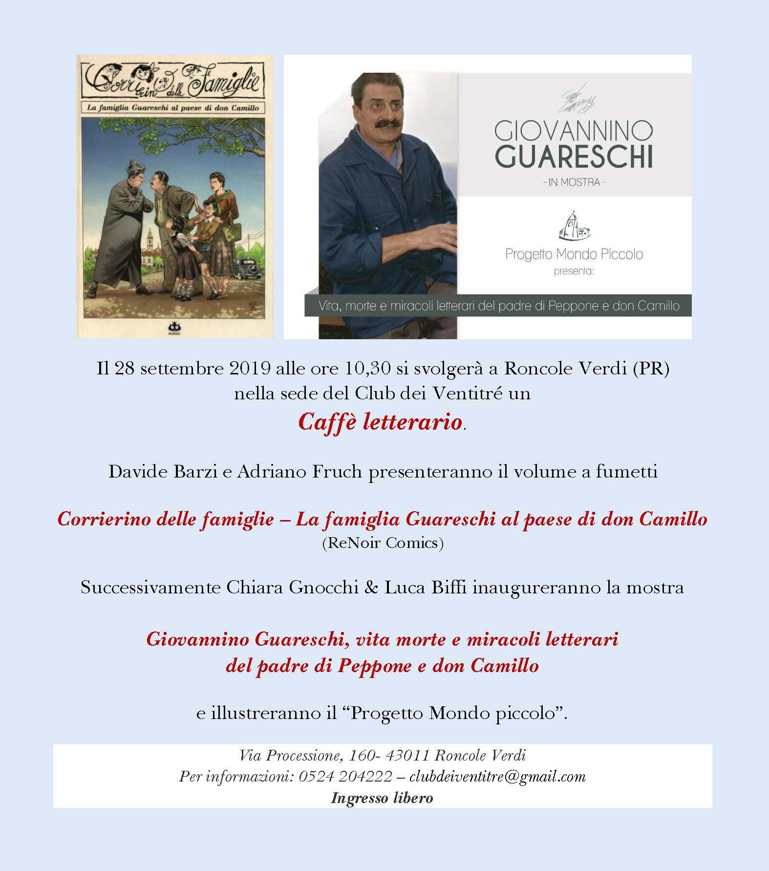 Caffè letterario dedicato a  Giovannino  Guareschi e ai suoi personaggi
