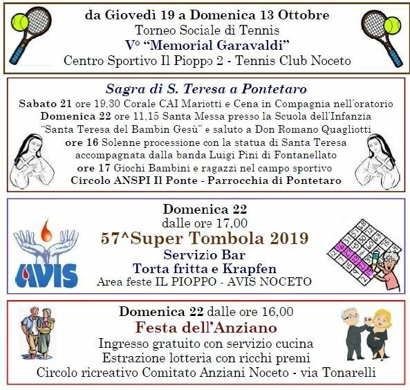 Eventi  a Noceto 21-22 settembre
