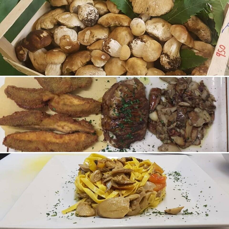 Menù funghi al ristorante Corale Verdi