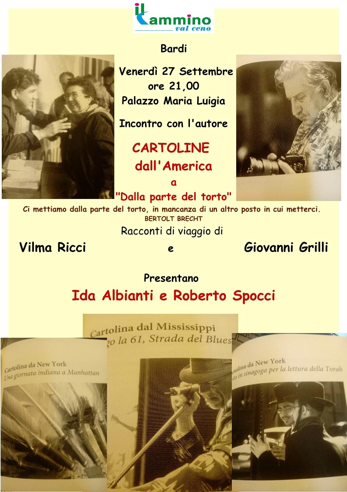 Ida Albianti e Roberto Spocci presentano il libro di Giovanni Grilli e Vilma Ricci sull'America