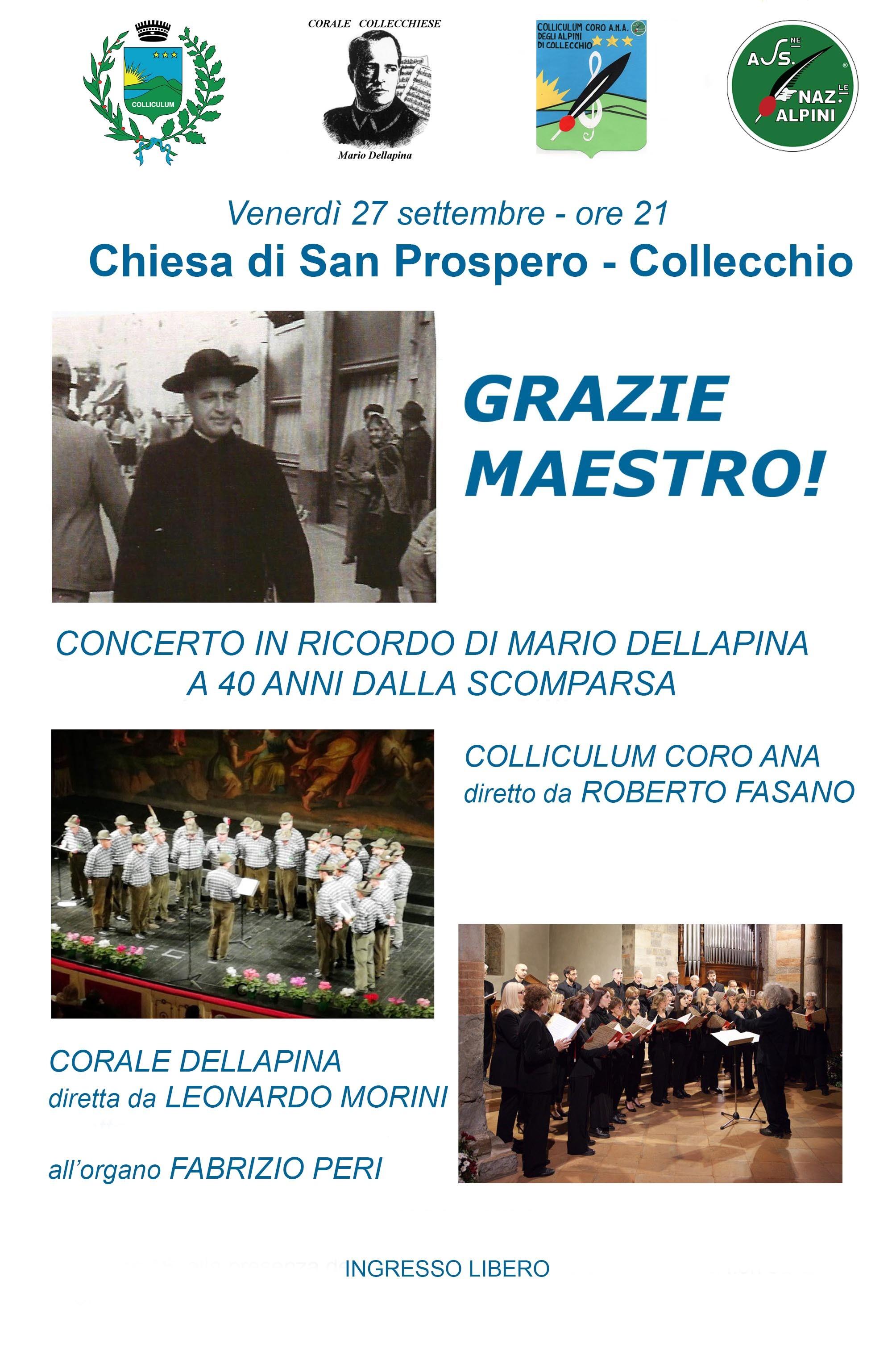 GRAZIE MAESTRO! Concerto in ricordo di Mario Dellapina