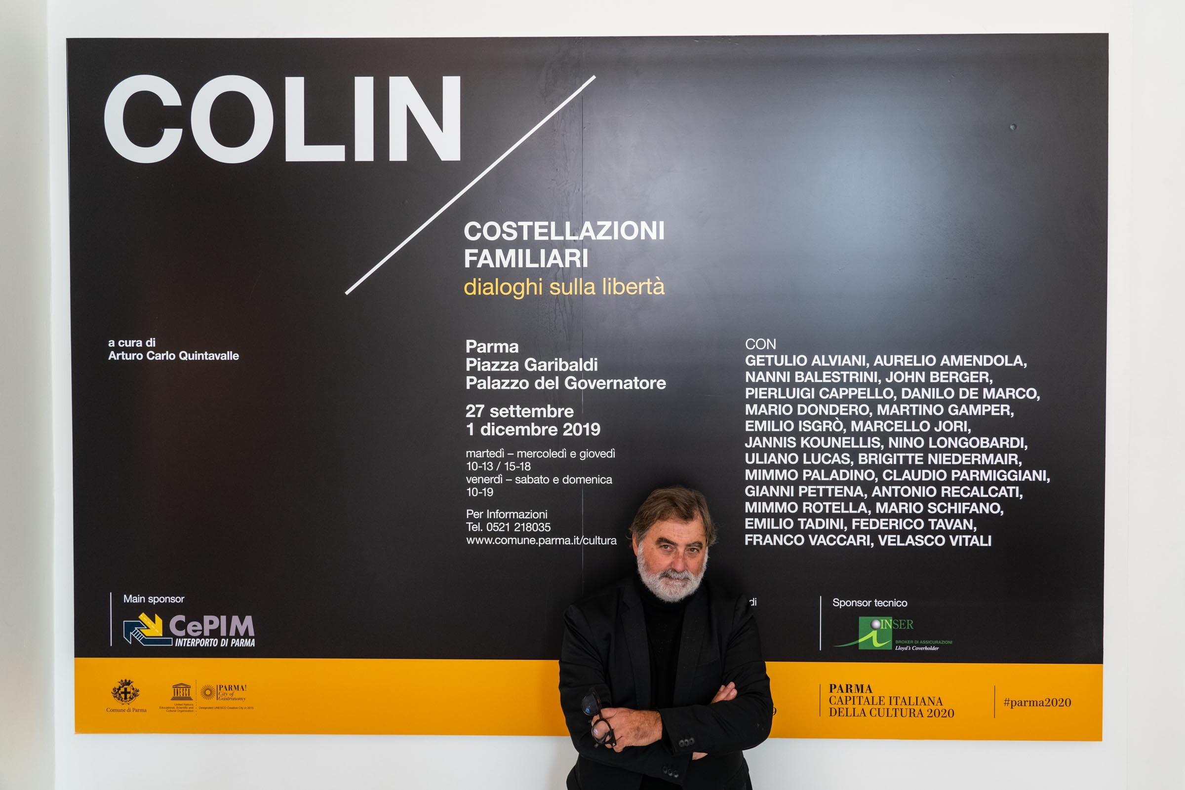 """GIANLUIGI COLIN  """"COSTELLAZIONI FAMILIARI  Dialoghi sulla libertà """"   A cura di Arturo Carlo Quintavalle"""