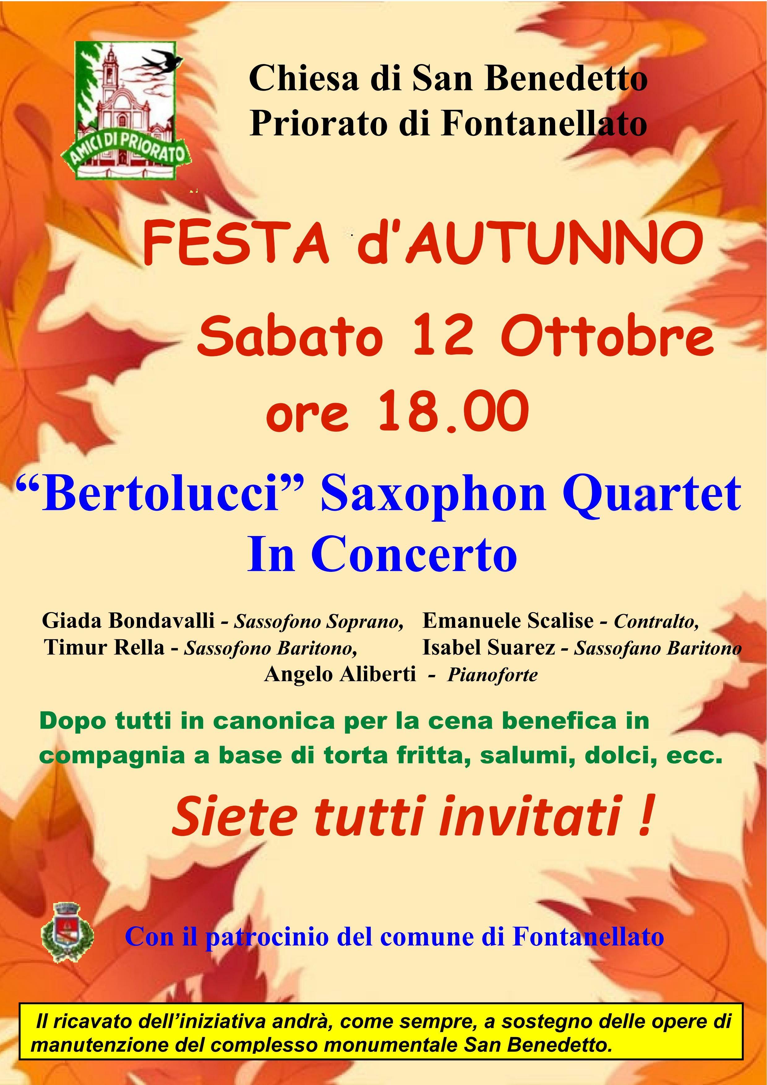 Tradizionale Festa d'Autunno  nella chiesa di San Benedetto in Priorato