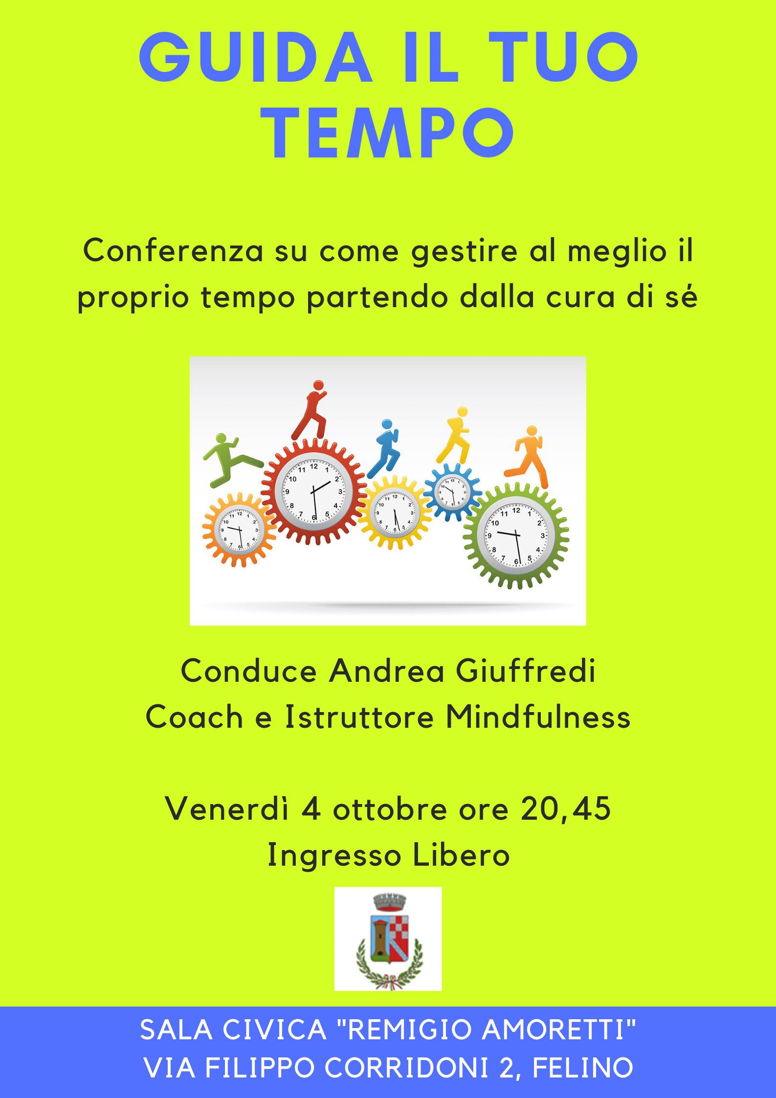 """""""Guida il tuo tempo"""" con il coach Andrea Giuffredi -  Conferenza ad ingresso"""