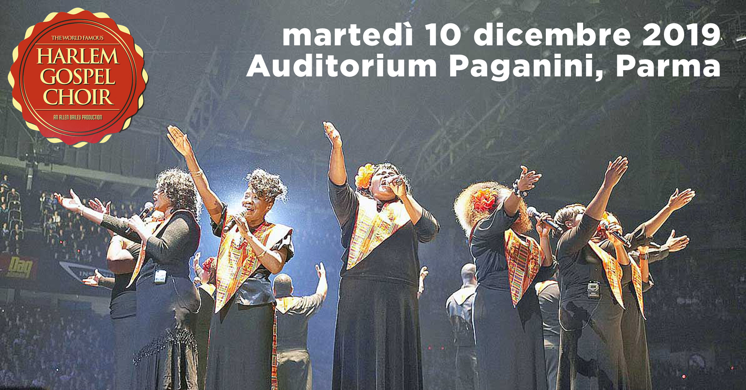 IL PIU' FAMOSO CORO GOSPEL D'AMERICA HARLEM GOSPEL CHOIR  with a special tribute to Prince  all'Auditorium Paganini
