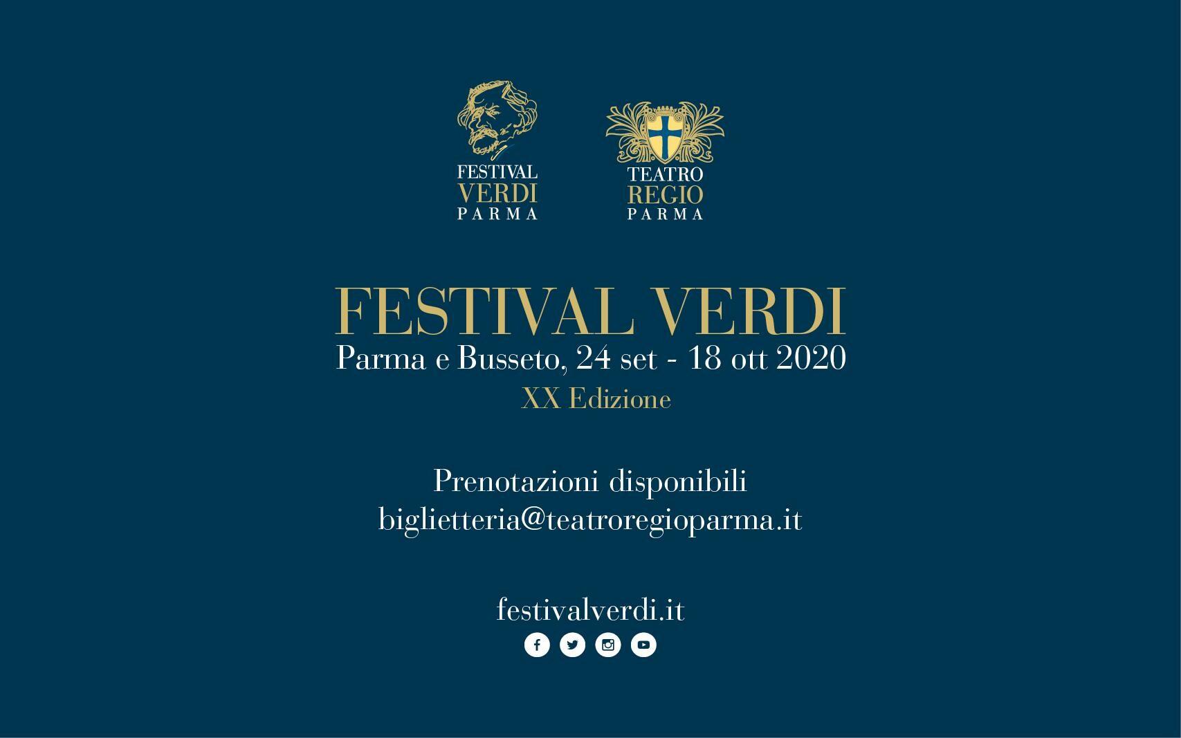 LE OPERE IN PROGRAMMA  AL FESTIVAL VERDI 2020  I Lombardi alla prima Crociata, Rigoletto,  Macbeth in versione francese, Ernani