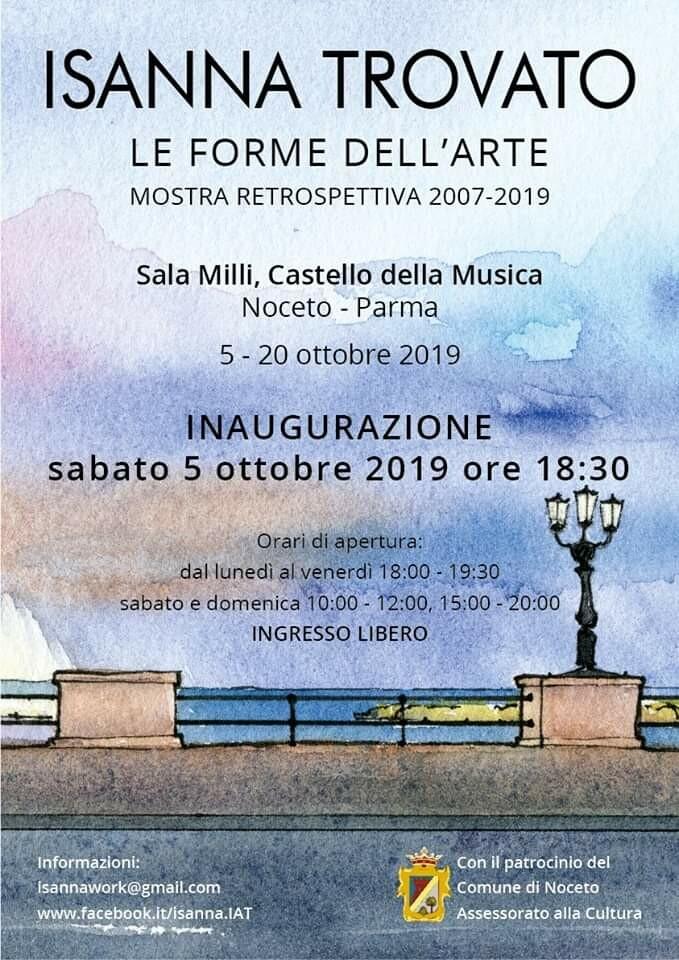 """""""Le forme dell'arte"""" mostra di Isanna Trovato al Castello della Musica"""