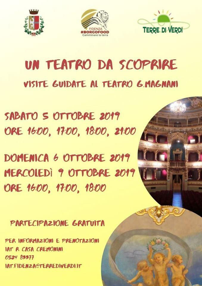 Un Teatro da scoprire 🔶  In occasione di BorgoFood visita guidata al  Teatro G.Magnani