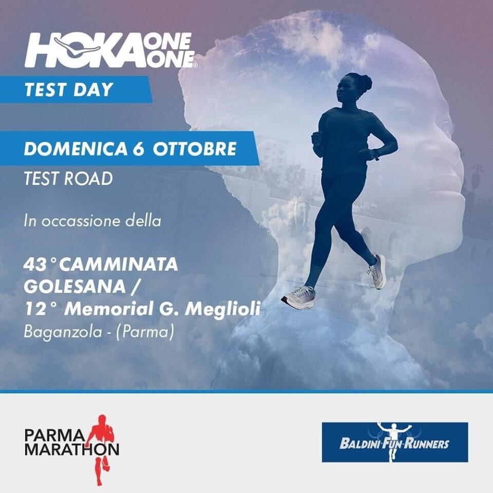 HOKA ONE ONE #testday Appuntamento Domenica 6 Ottobre, in occasione della 43° camminata Golesana / 12° Memorial G Meglioli