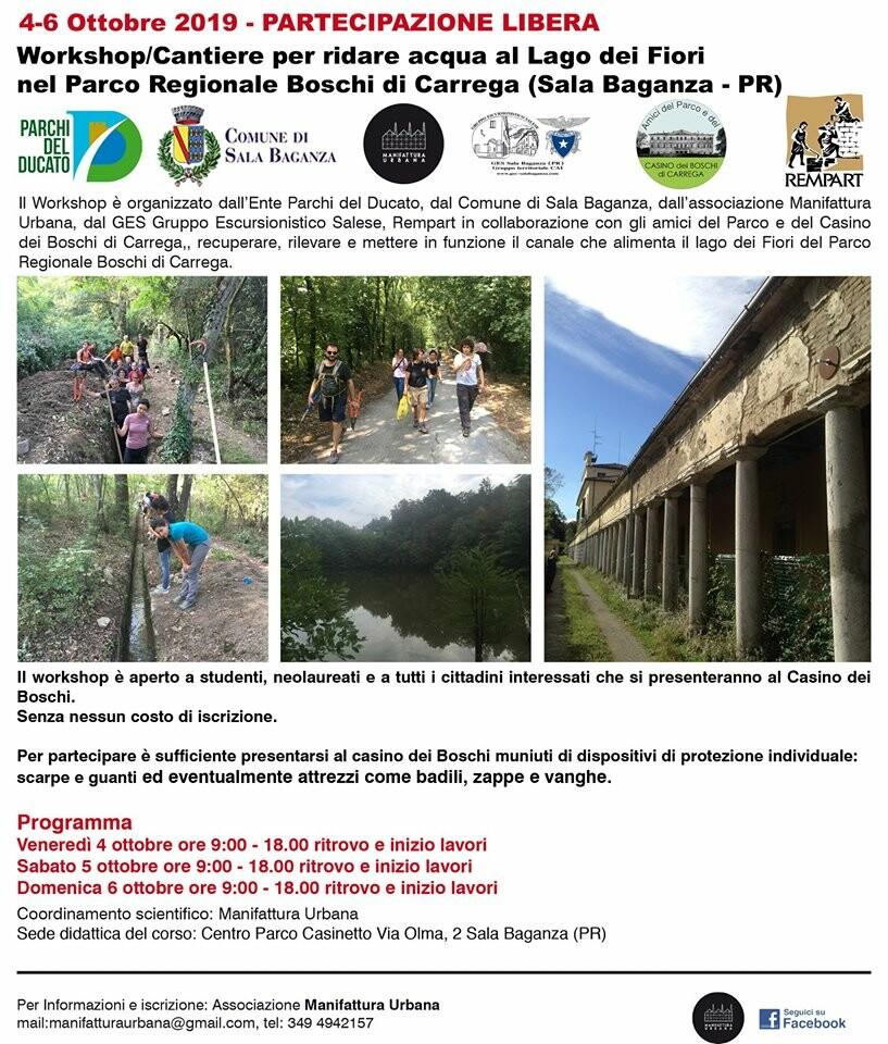 Workshop/Cantiere per ridare acqua al lago dei Fiori