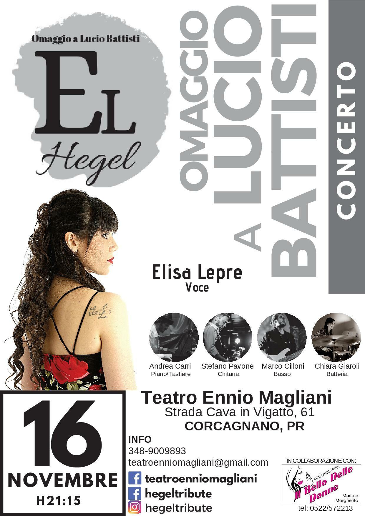 Hegel al Teatro Ennio Magliani: omaggio a Lucio Battisti