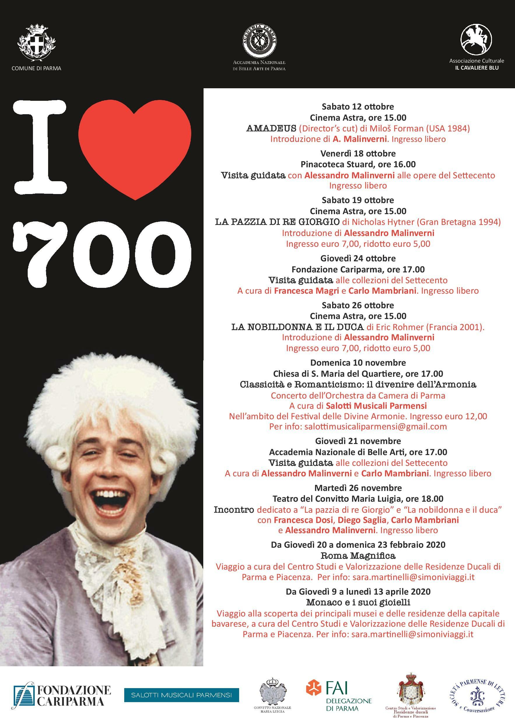 I love 700: visite guidate ai gioielli di Parma e incontri