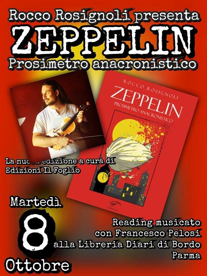 """Rocco rosignoli presenta il suo libro """"Zeppelin"""""""