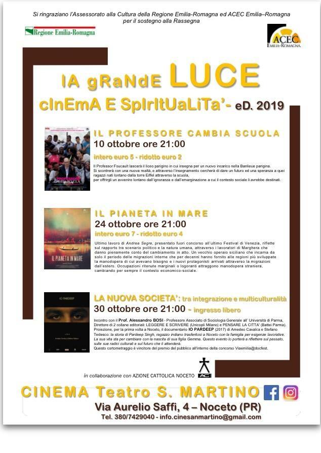 """Rassegna """"LA GRANDE LUCE – Cinema e Spiritualità"""" organizzata dal Cinema San Martino"""