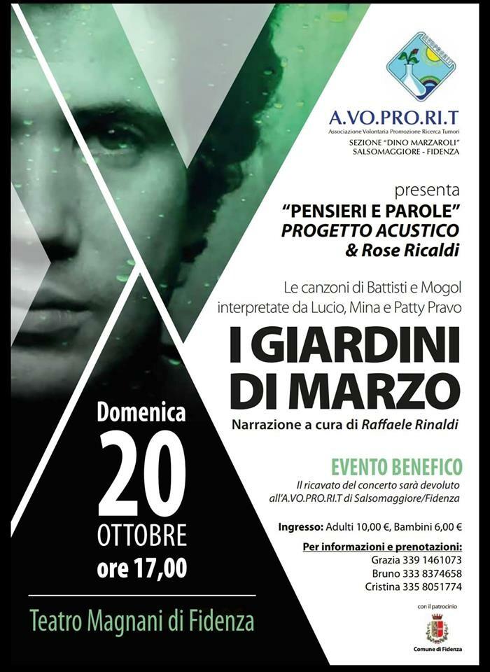 I GIARDINI DI MARZO - Le canzoni di BATTISTI e MOGOL al  Teatro  Magnani