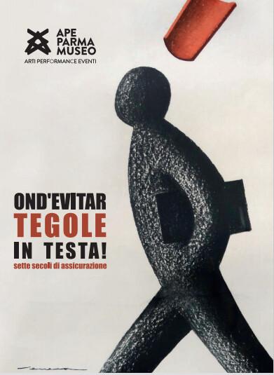 """""""OND'EVITAR TEGOLE IN TESTA! Sette secoli di assicurazione"""" - In mostra anche opere di Nespolo"""