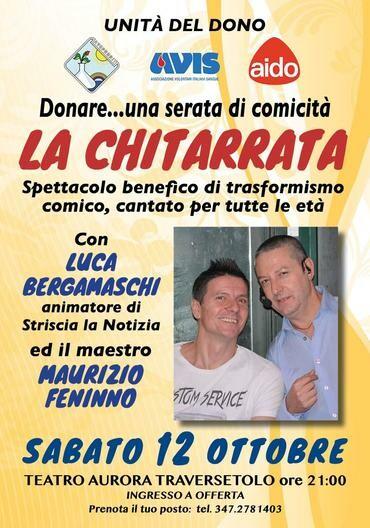 """""""La chitarrata"""" Serata benefica di trasformismo comico organizzata con LUCA BERGAMASCHI"""