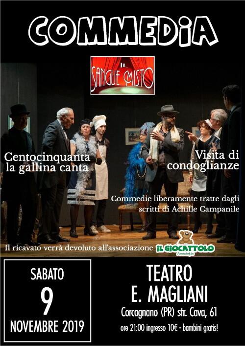 """""""Sangue misto"""" commedia in scena al teatro Ennio Magliani di Corcagnano."""