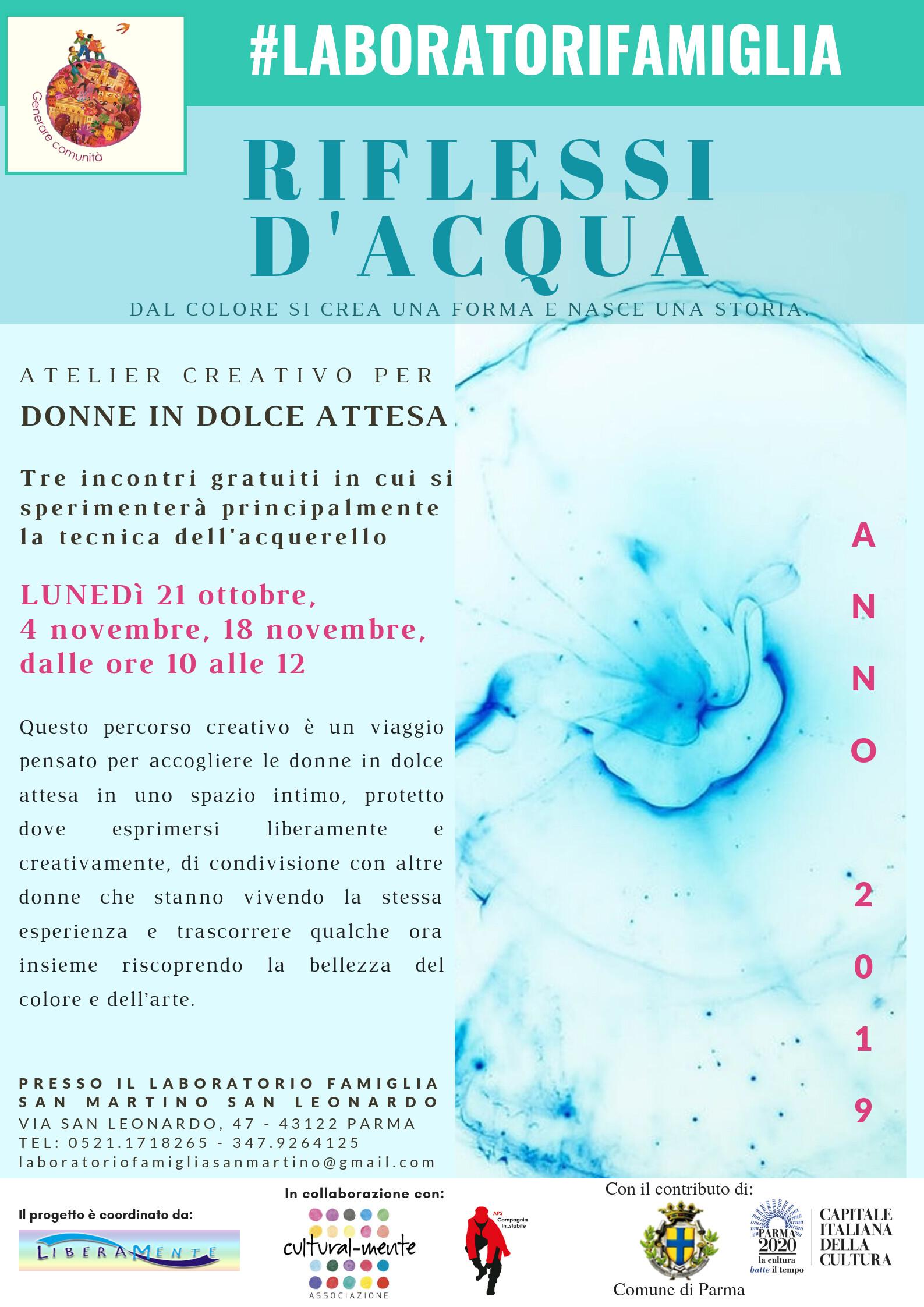 Riflessi d'acqua ATELIER CREATIVO - ESPRESSIVO PER DONNE IN DOLCE ATTESA