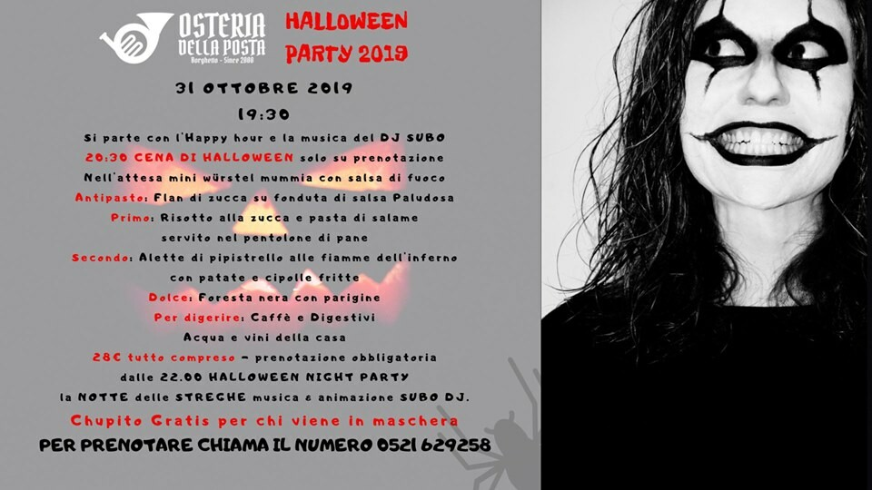 Halloween Party 2019 all'Osteria della Posta a Borghetto