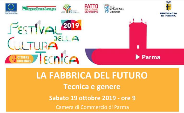"""Festival della Cultura tecnica a Parma - """"Tecnica e genere"""": in Camera di commercio"""