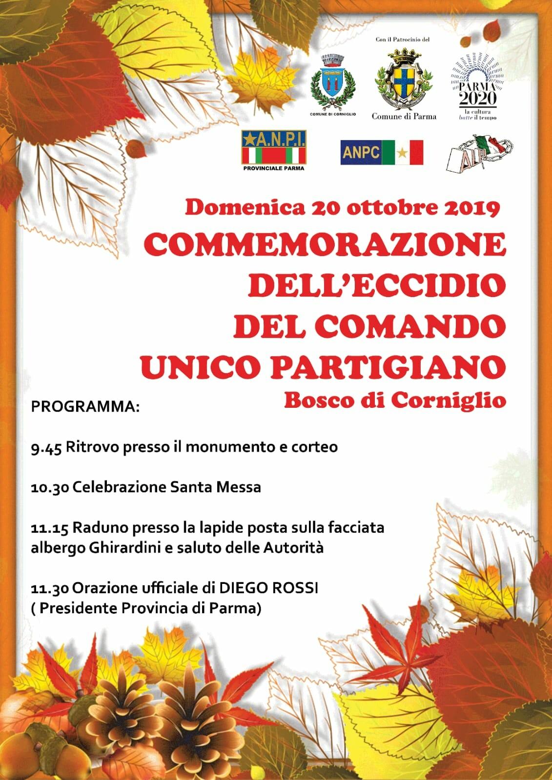 Commemorazione dell'eccidio di Bosco di Corniglio