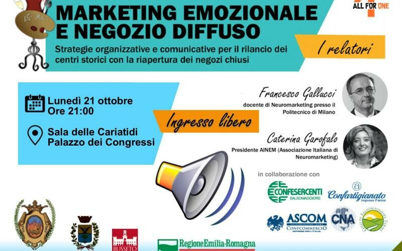 "Conferenza ""Marketing emozionale e negozio diffuso"""