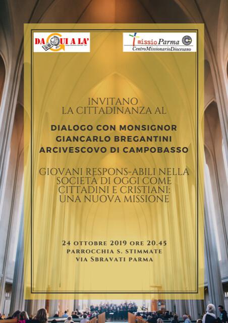 Conferenza con il Monsignor Bregantini per anni Vescovo nella Locride