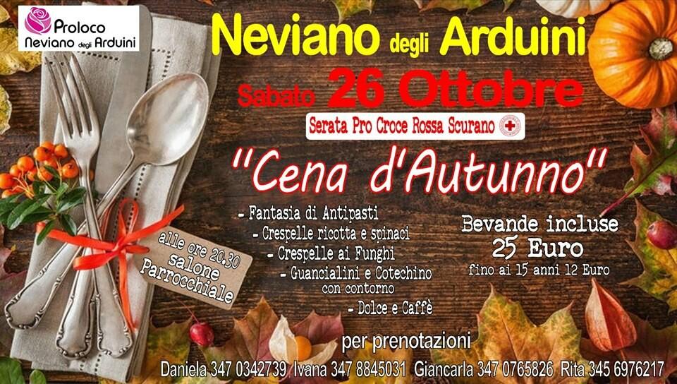 Cena d'autunno SERATA PRO CROCE ROSSA  comitato di Scurano