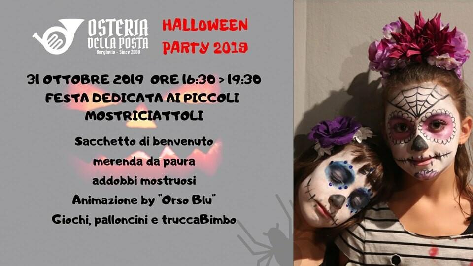 Halloween For Kids 2019 all'Osteria della Posta a Borghetto