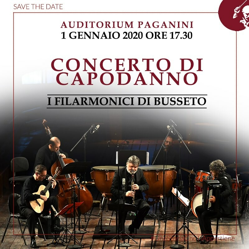 Vendita biglietti per il Concerto di Capodanno 2020 con i Filarmonici di Busseto