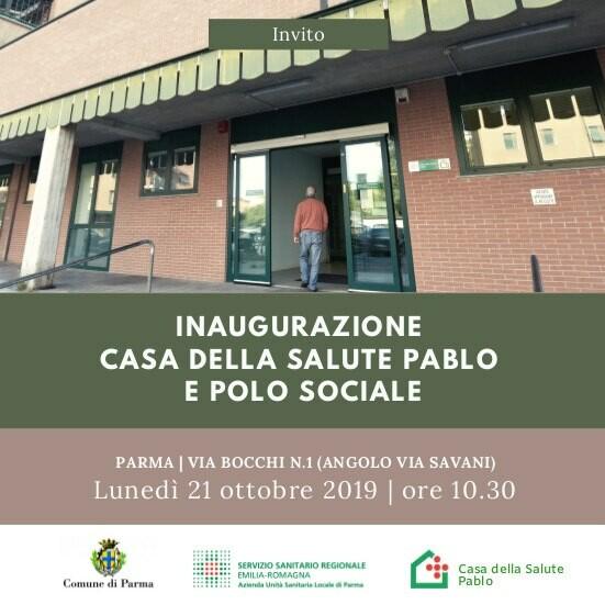 Inaugurazione Casa della Salute e Polo sociale Pablo