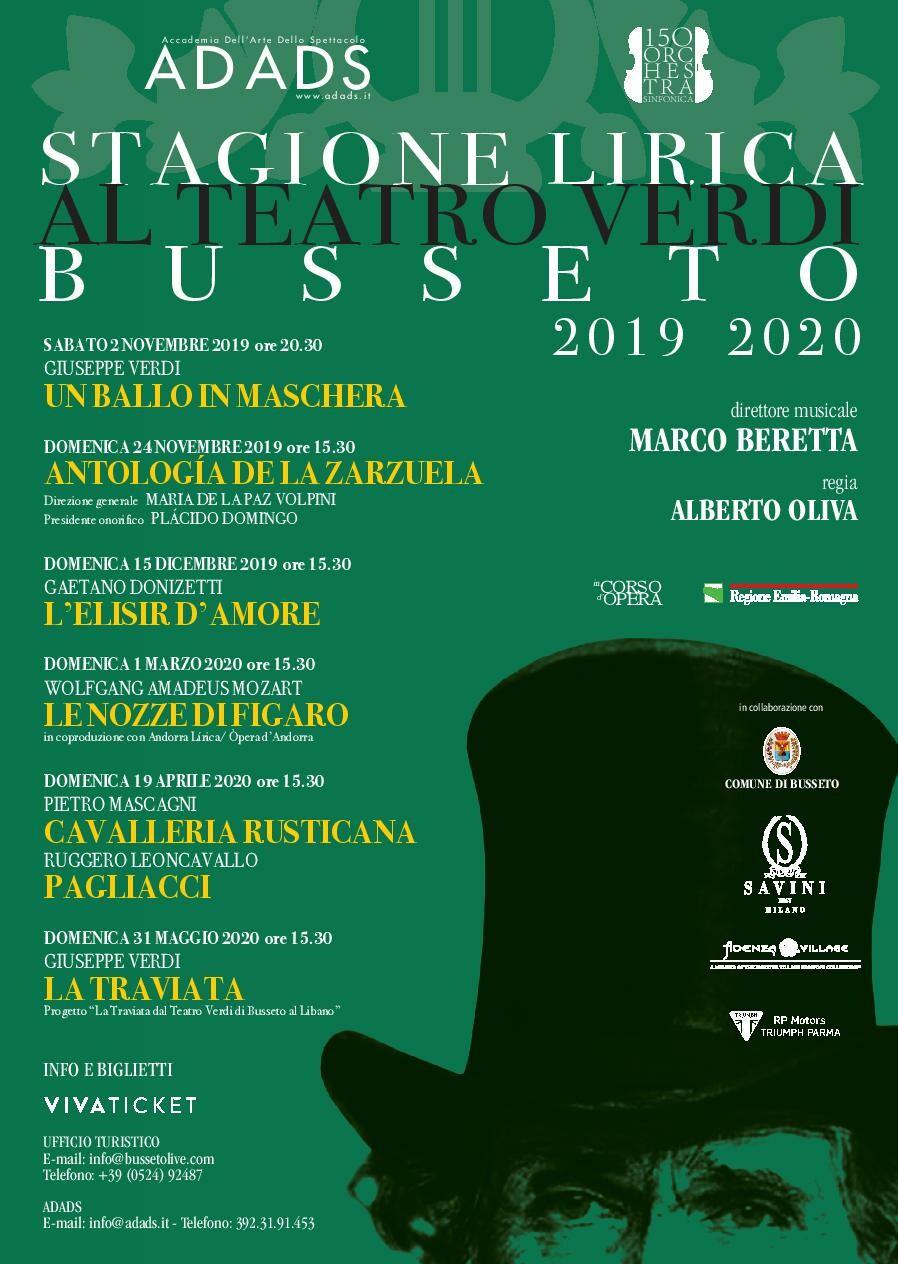 Stagione Lirica 2019/2020 del Teatro G. Verdi  di Busseto