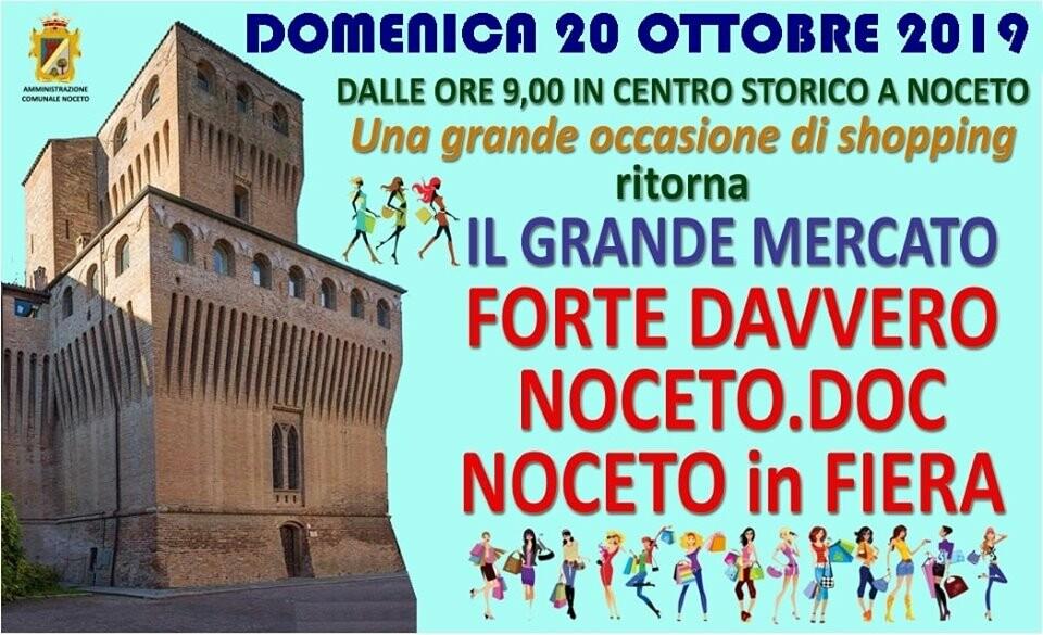 Il mercato del Forte a Noceto in fiera